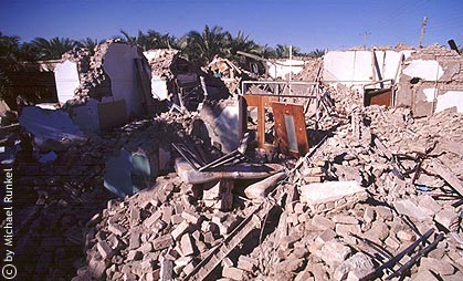 Das guest house in BAM nach dem Beben